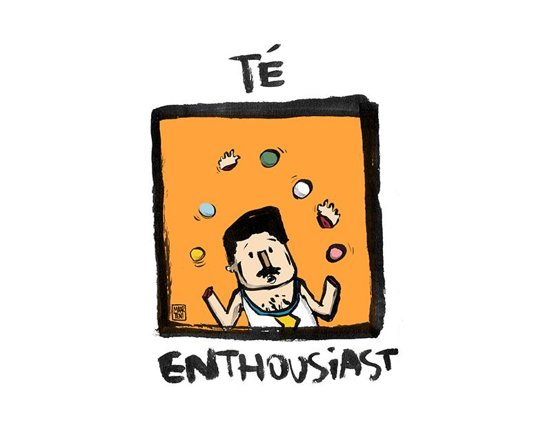 enthousiaste cartoon